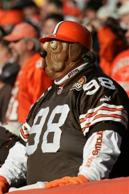 I would wear a mask too if I was a Browns fan.