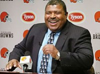 Smiling Romeo Crennel